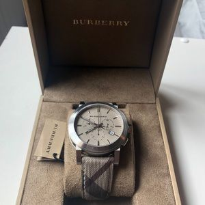 Burberry Smoke Checked chronograph watch